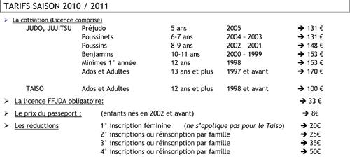 Les tarfs judo, jujitsu et taïso à Sainte Luce et Thouaré